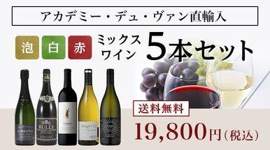 泡白赤ワインミックス5本セット