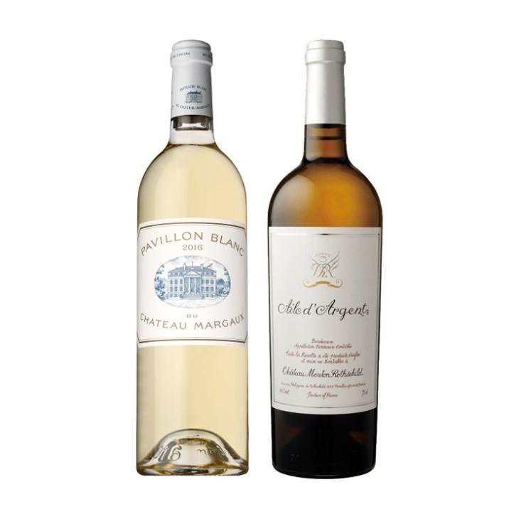 1級シャトーが手掛けるボルドー白ワインの最高峰2本セット